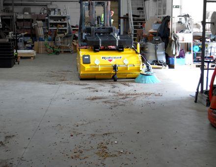 Balayage dans un entrepôt