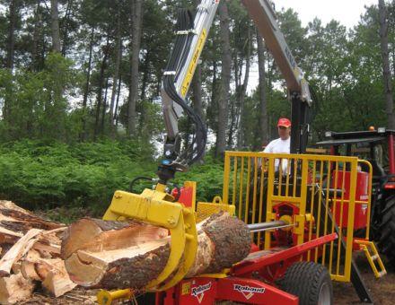 Fendeuse horizontale Rabaud 40 tonnes