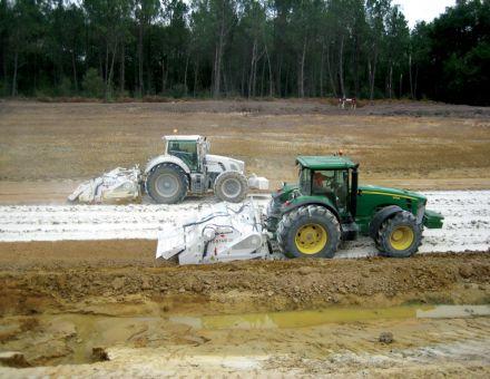 Stabilisatrice semi-portée 3 points tracteur