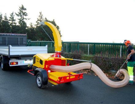 Aspirateur de feuilles WINDY 660 sur remorque routière
