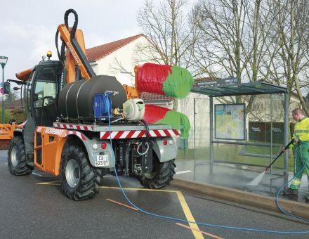Utilisation du nettoyeur haute pression avec cuve à eau