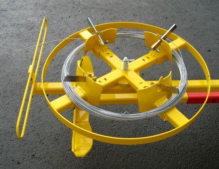 Plateau avec support conique escamotable selon le diamètre