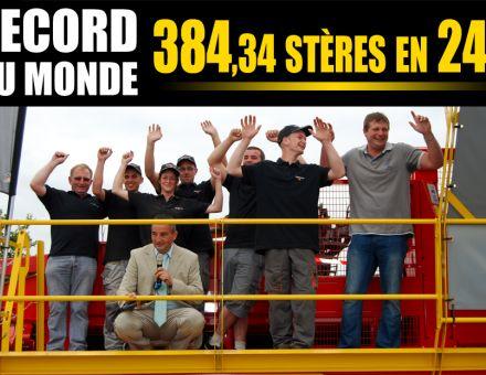 Ce combiné détient le Record du Monde de production de bûches