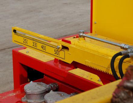 Réglage de la longueur de coupe de 250 à 500 mm