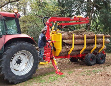 PTAC de la remorque forestière : 11 tonnes