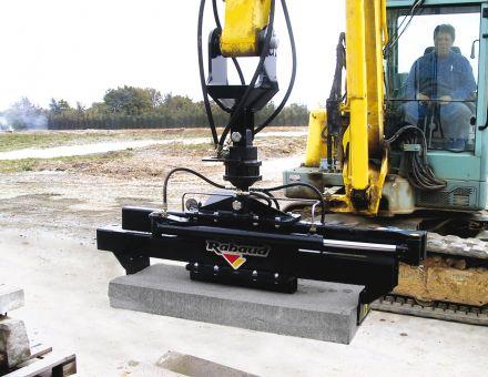 Pince-bordure avec rotator pour tourner bordure