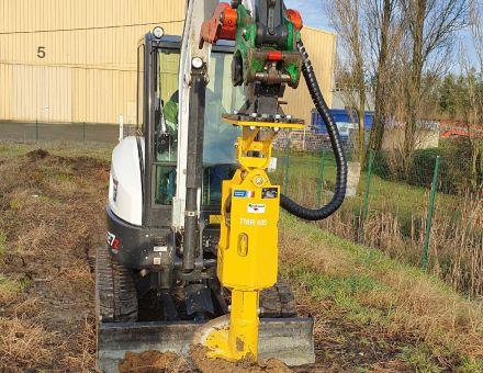TMR 605 sur pelle au travail