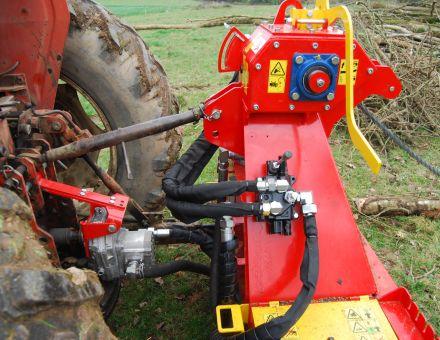Moteur hydraulique et commande du treuil