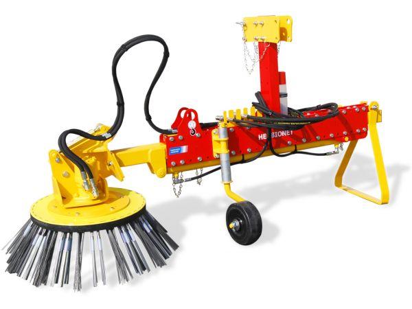 Brosse de desherbage mécanique sur tracteur : HERBIONET