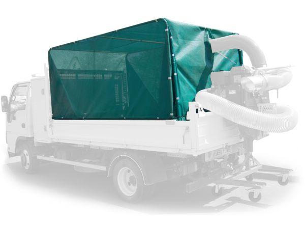 Kit filet monté sur camion benne avec aspirateur