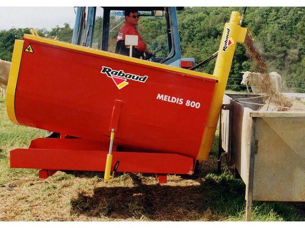 MELDIS 800 sur 3 points tracteur avec vis élévatrice