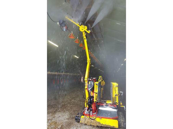 Nettoyage haute pression des lanterneaux