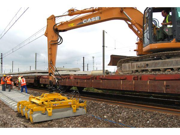 Palonnier pour traverses ferroviaires