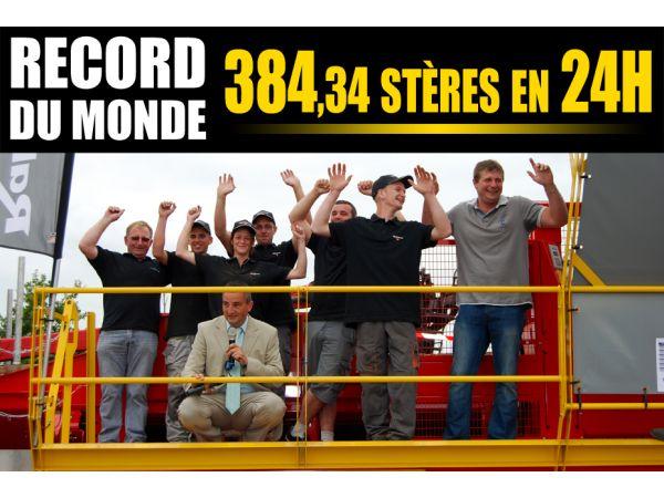 Le XYLOG 550 détient le Record du Monde de production de bûches