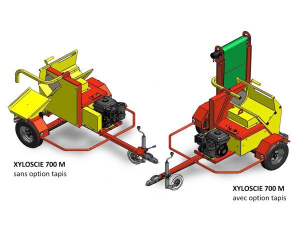 Scie 700M avec goulotte d'évacution ou option tapis