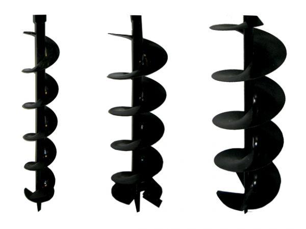 Tarière livrée avec 3 vrilles de longueur 1 mètre : Ø 100 , 150 et 200 mm